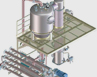 Evaporator of Fruit processing machine